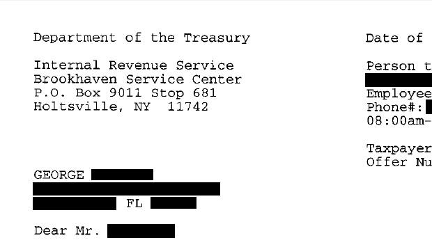 IRS Settlement Letter