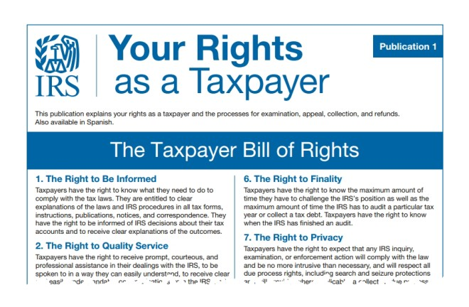 Breaking Down the New Taxpayer Bill of Rights