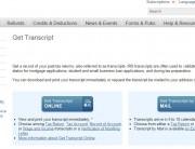 IRS transcript title
