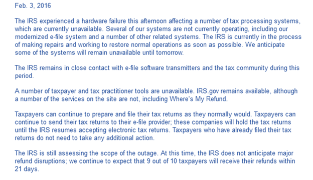 Does the IRS send alerts for any tax changes?