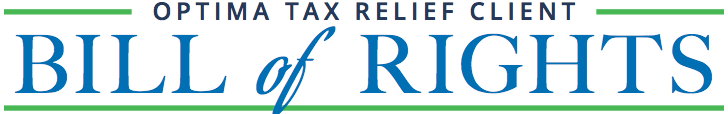 Optima Tax Relief, Client Bill of Rights